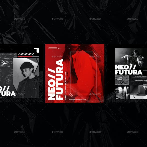 Neo Futura Fashion Instagram Post Pack