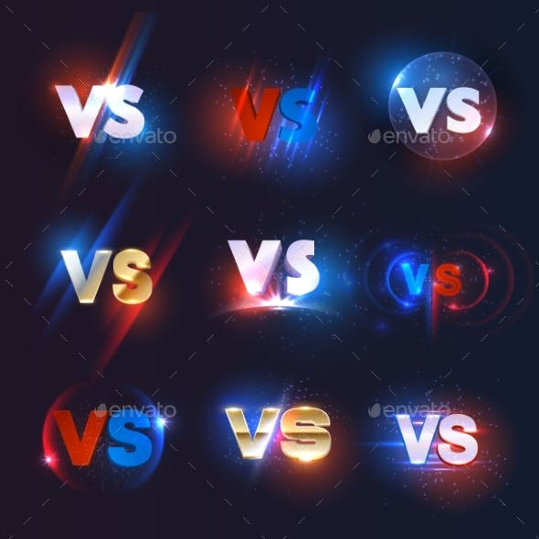 Versus or VS Icons of Sport Game Competition