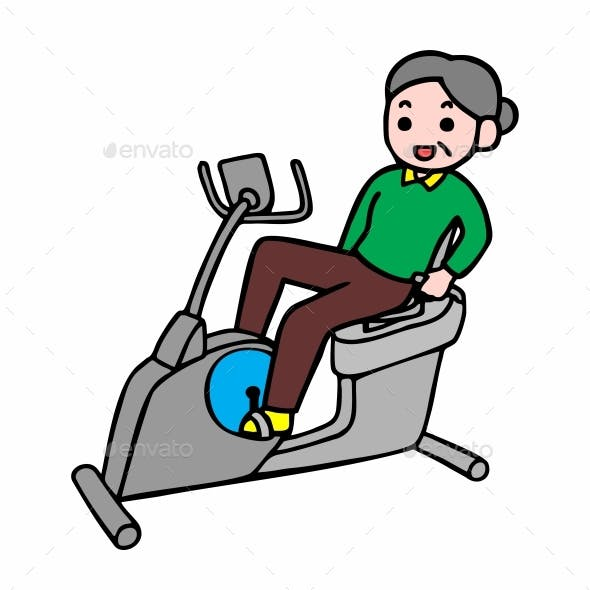 Adult Healthy Lifestyle Fitness Old Woman