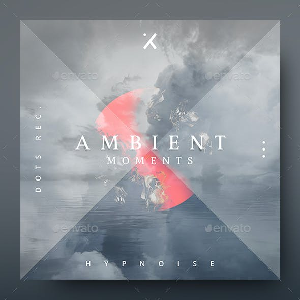 Ambient Moments – Music Album Cover Artwork / Youtube Video Thumbnail Template