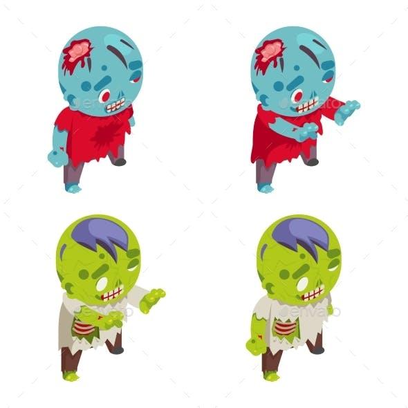 Masquerade Zombie Isometric Costume Halloween