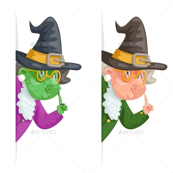 Witch Wise Advice Look Out Corner Grandmother