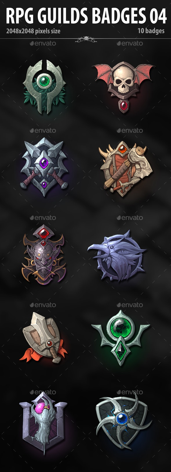RPG Guilds Badges 04 - Miscellaneous Game Assets