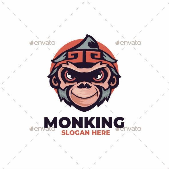 Monking mascot logo