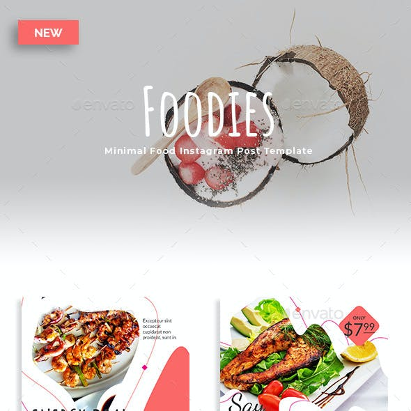 Foodies - Minimal Food Instagram Post Template