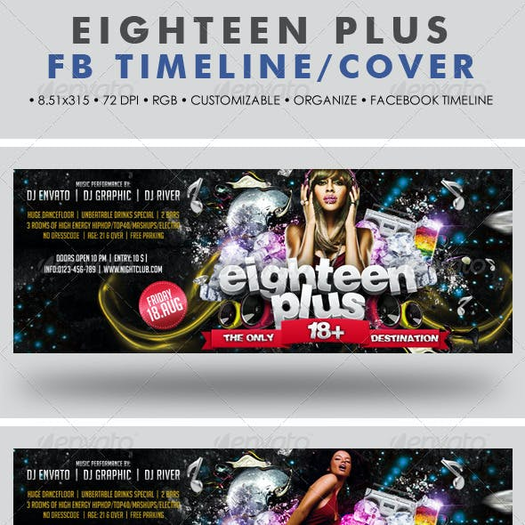 Eighteen Plus Facebook Timeline Cover