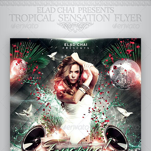 Tropical Sensation Party Flyer Template