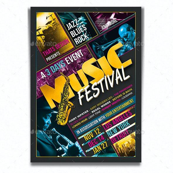 Music Festival Flyer Template V3