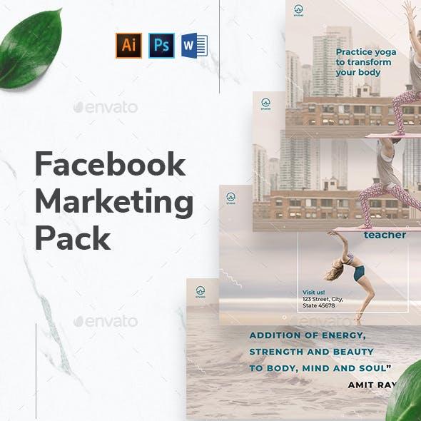 Yoga Instructor Facebook Marketing Materials