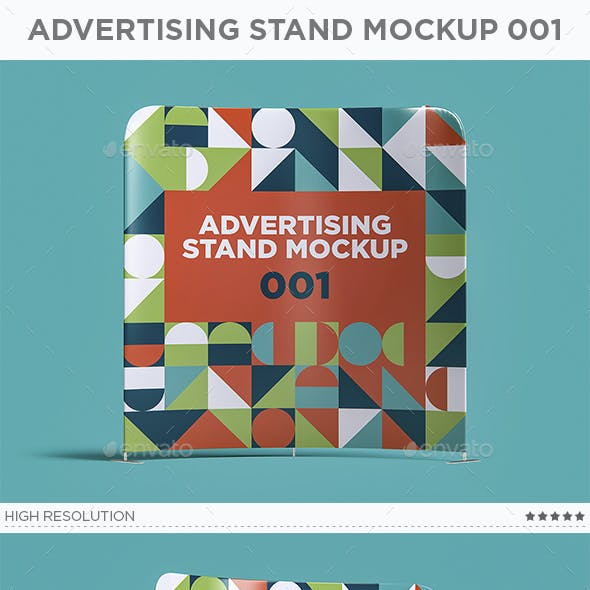 Advertising Stand Mockup 001
