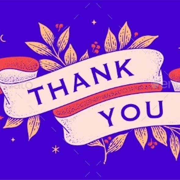 Thank You Retro Greeting Card