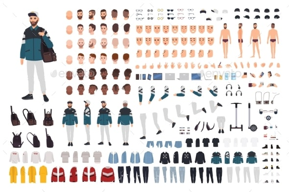 Stylish Man Character Constructor - People Characters