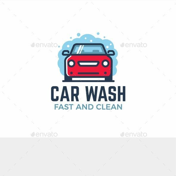 Modern Car Wash Logo Template