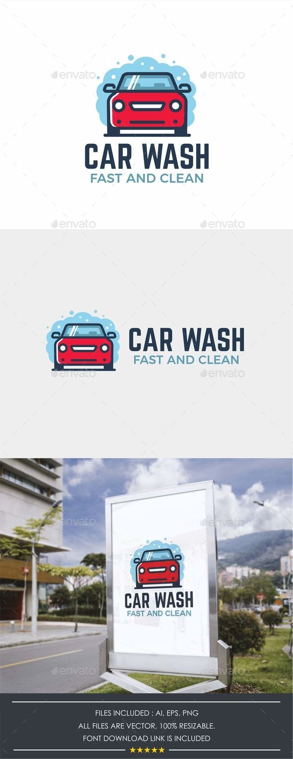 Modern Car Wash Logo Template - Objects Logo Templates