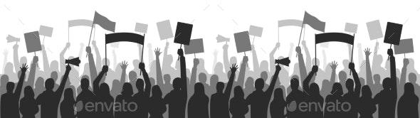 Activists Protest Seamless Border Strike Group - Miscellaneous Vectors