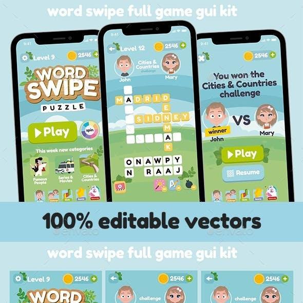 Word Swipe Game Gui Assets Kit