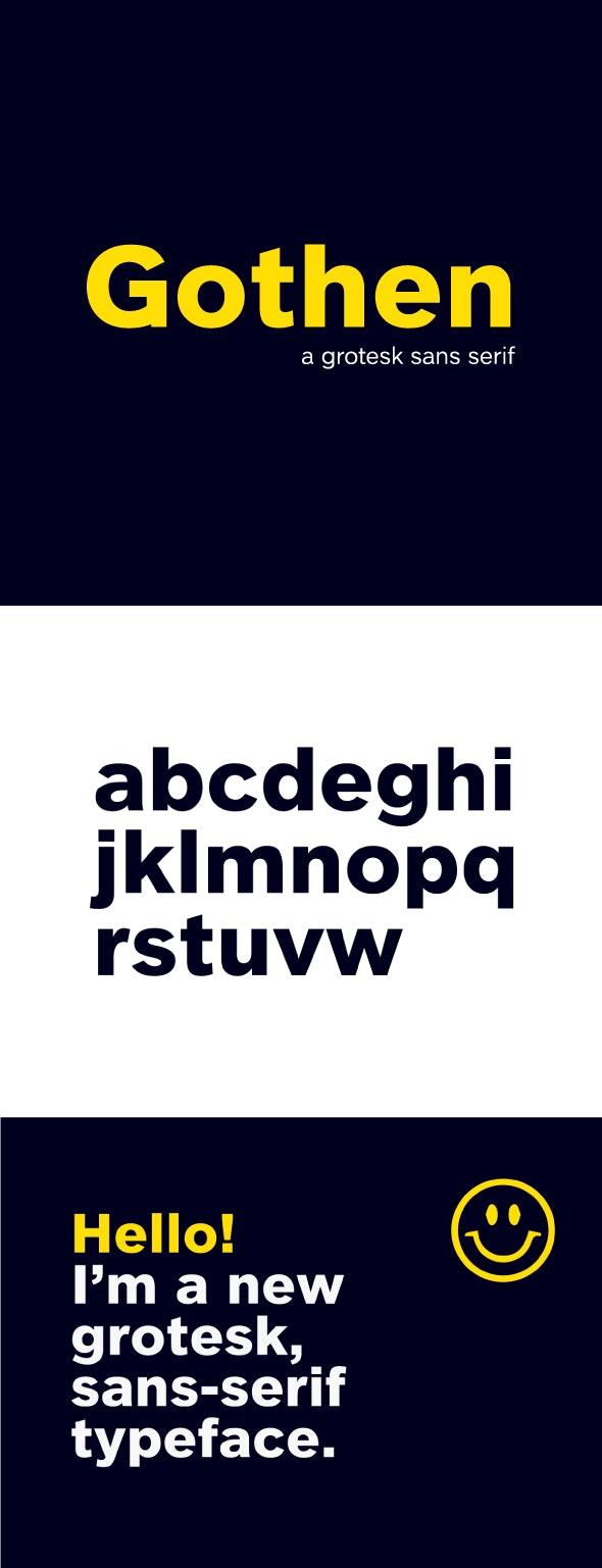 Gothen Grotesk Sans Font - Sans-Serif Fonts