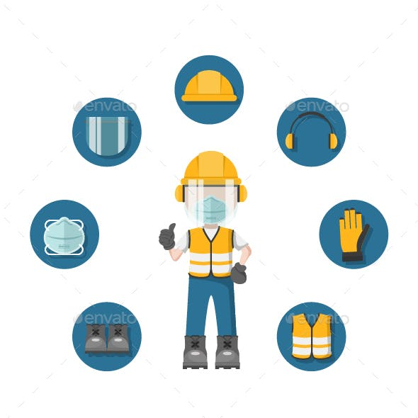 Design of Person with his Personal Protective Equipment