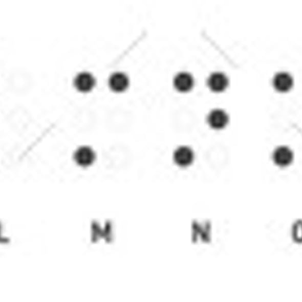 Realistic Dots Abc for Vision Disable Blind