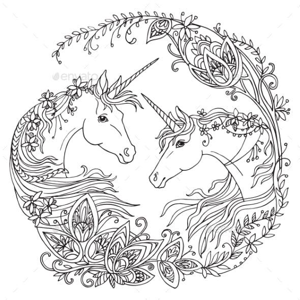 Coloring Unicorn Vector 10