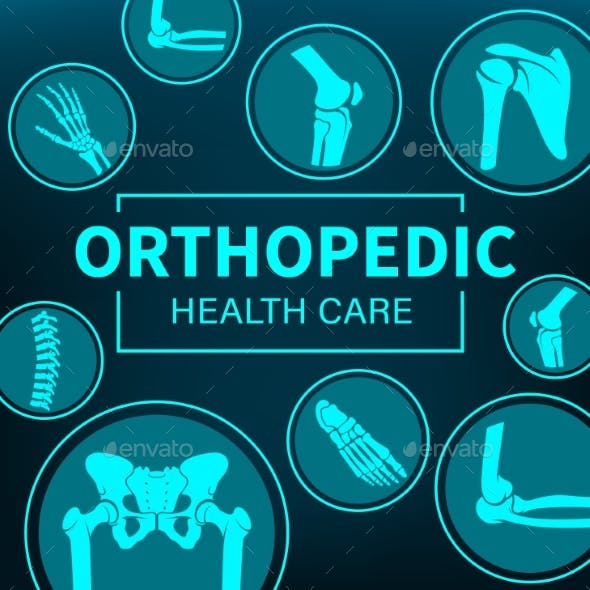 Orthopedy Medicine, Joints Treatment, Xray Poster