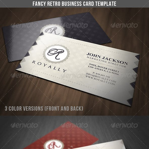 Fancy Retro Business Card