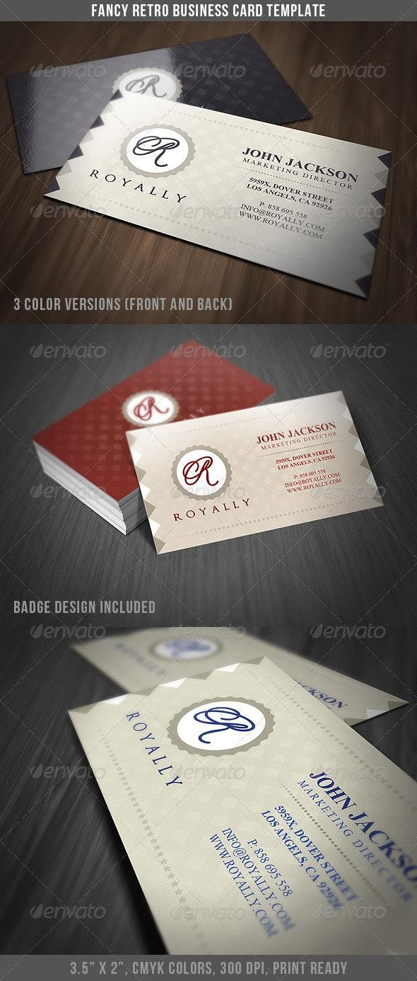 Fancy Retro Business Card - Retro/Vintage Business Cards