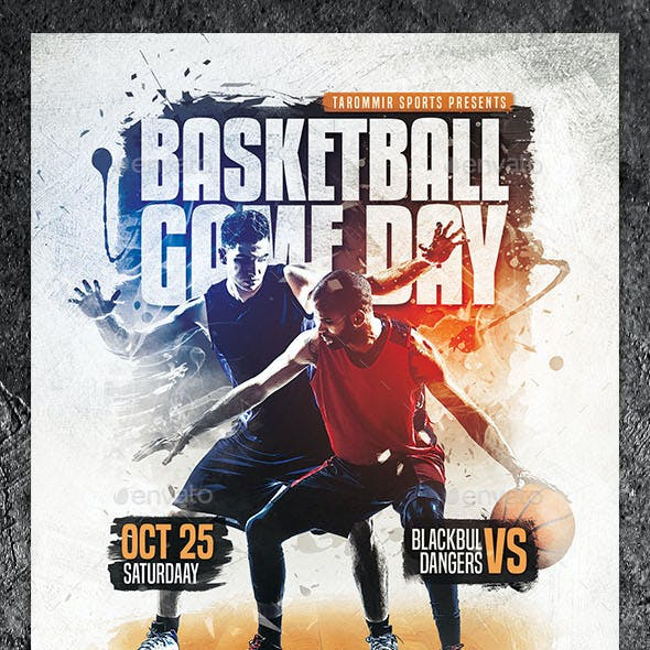 Basketball Game Day Flyer