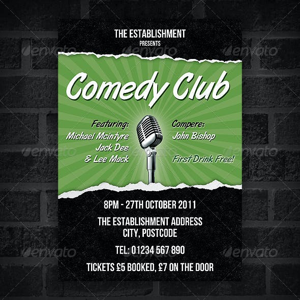 Comedy Club - Flyer & Poster Set