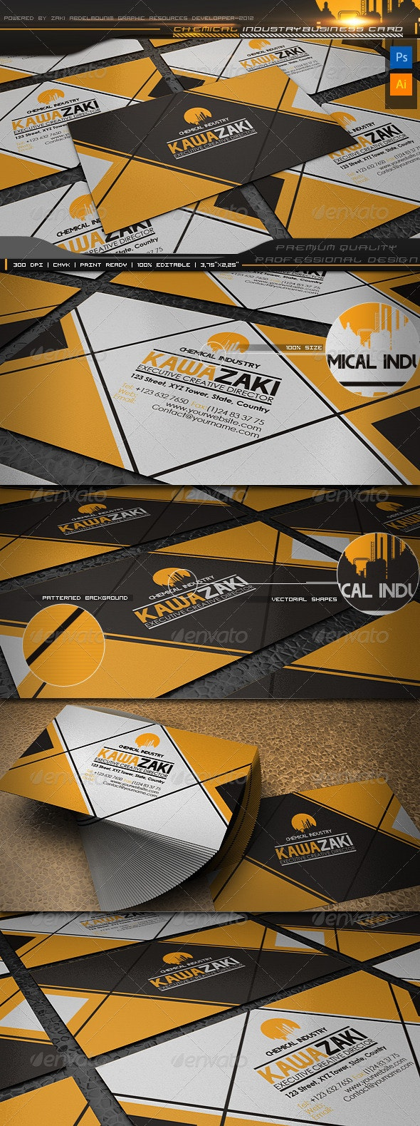 Chemical Industry business card - Creative Business Cards