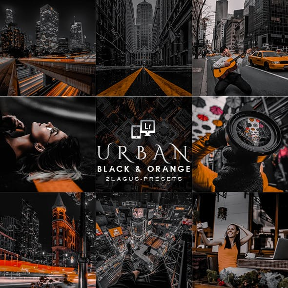 Urban Black and Orange  Presets  (Mobile & Desktop)