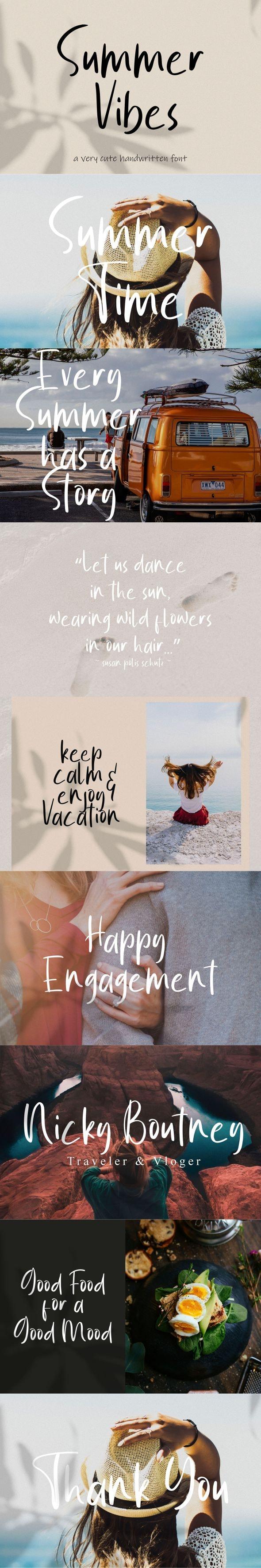 Summer Vibes Font - Handwriting Fonts