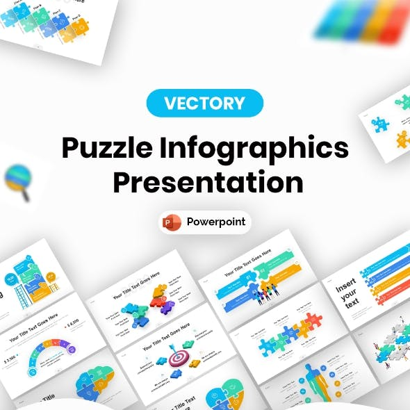 Puzzle Infographic PowerPoint Presentation Template
