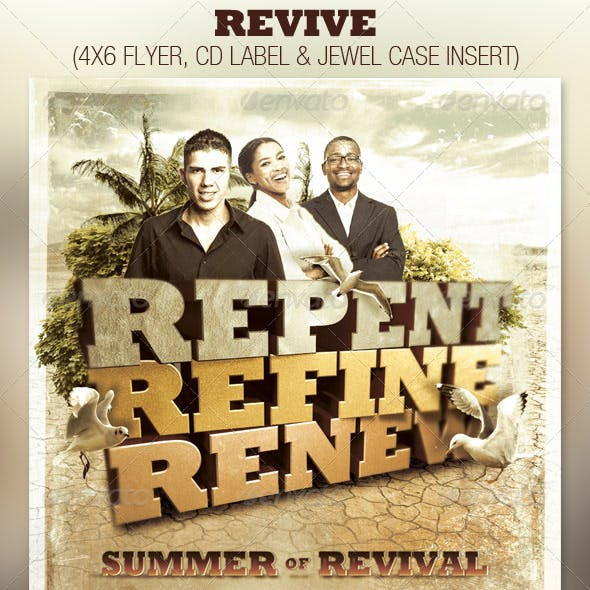 Revive Church Flyer and CD Template