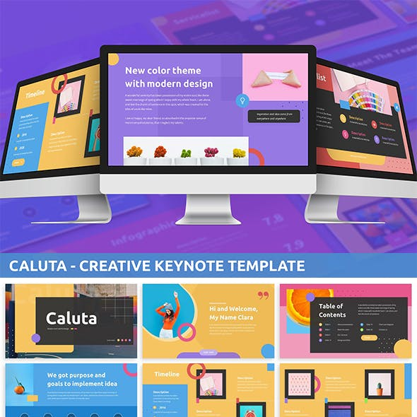 Caluta - Creative Keynote Template
