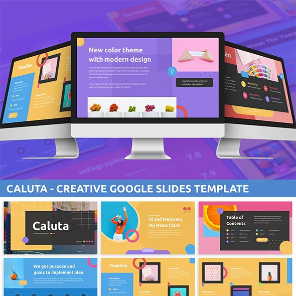 Caluta - Creative Google Slides Template
