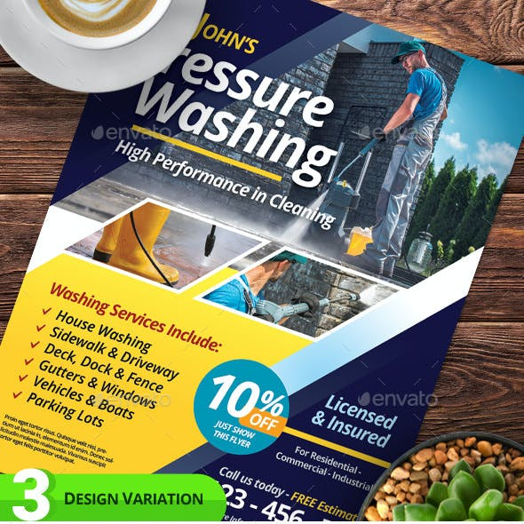 Pressure Washing Services Flyer Templates