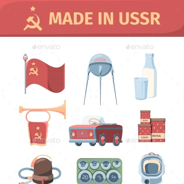 Items Made in Ussr Set.