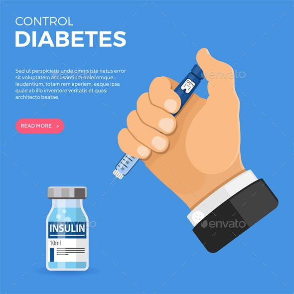 Diabetes Concept with Insulin Pen Injection