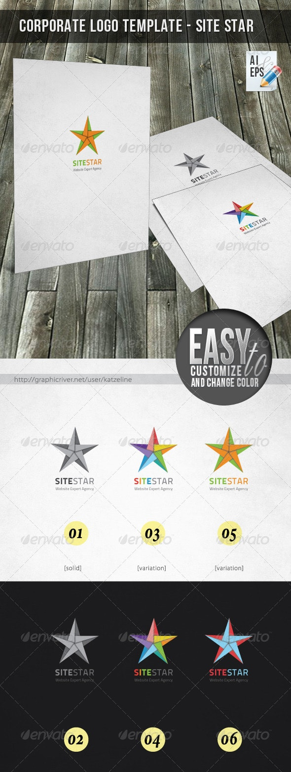 Corporate Logo - Site Star - Objects Logo Templates