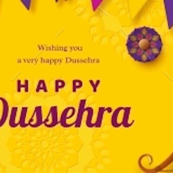 Happy Dussehra Banner