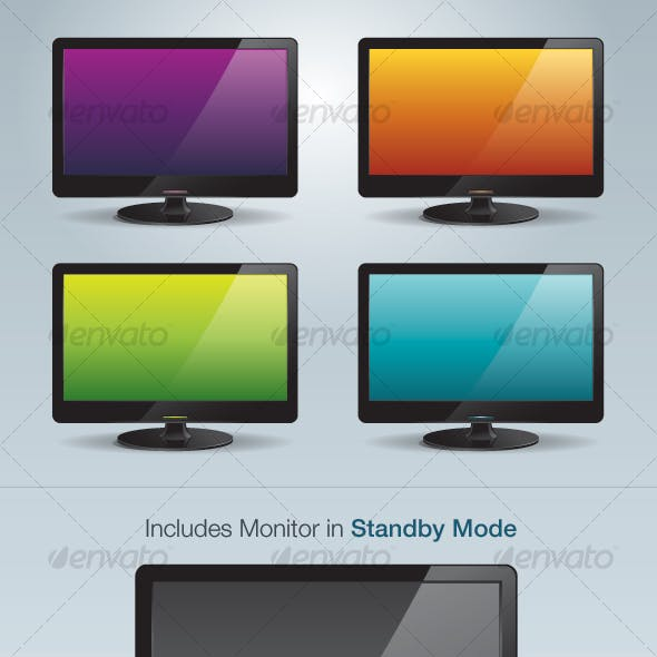 Stylish Vector LCD Screens