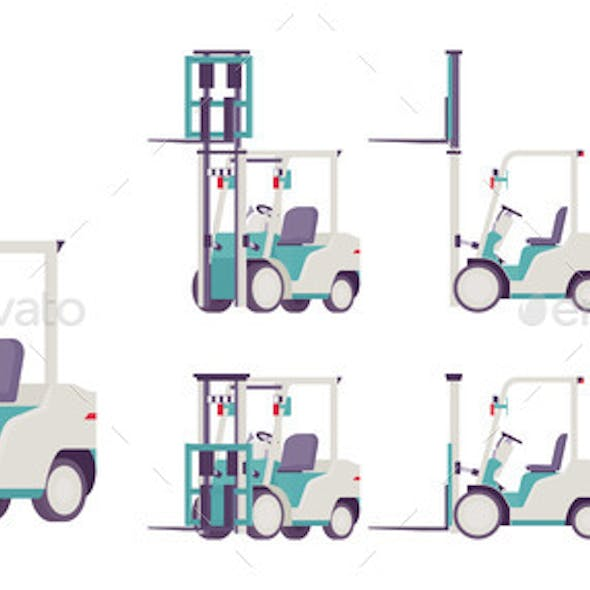 Forklift Truck Professional Modern Vehicle