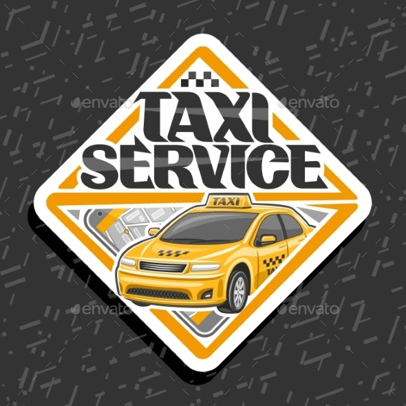Vector for Taxi Service - Services Commercial / Shopping