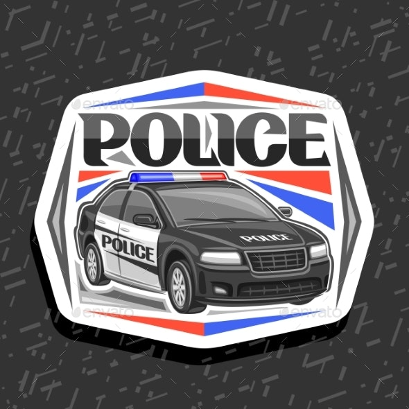 Vector Logo for Police Car - Man-made Objects Objects