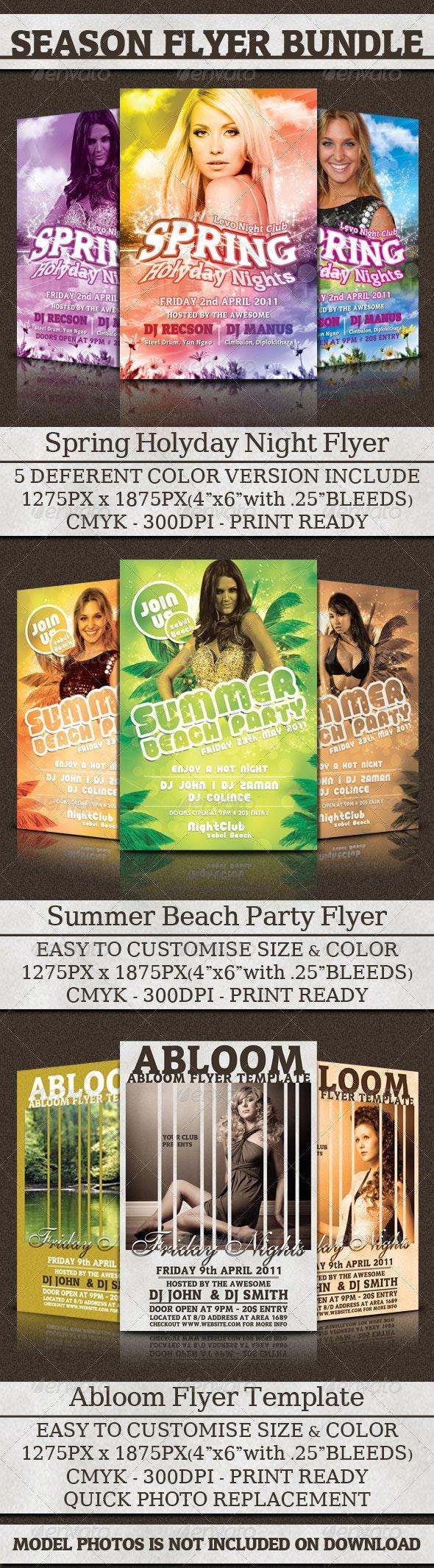 Season Flyer Bundle - Clubs & Parties Events