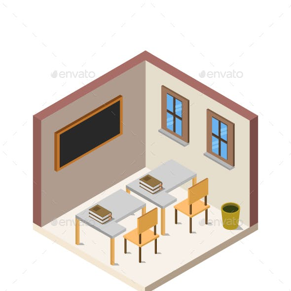 Isometric School Room