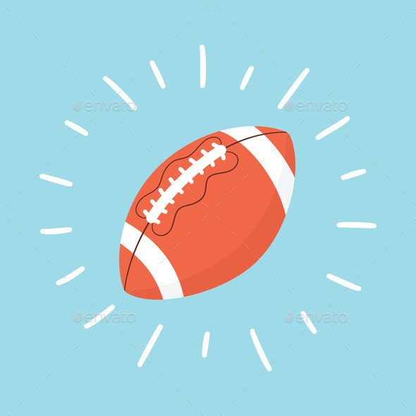 Shining American Football Ball Rugby Ball Sport By Elenapimukova