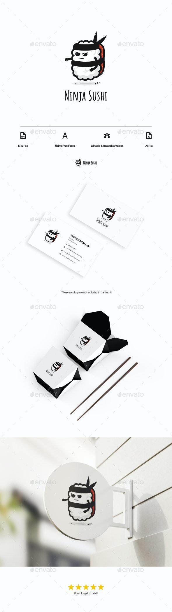 Ninja Sushi Logo - Food Logo Templates
