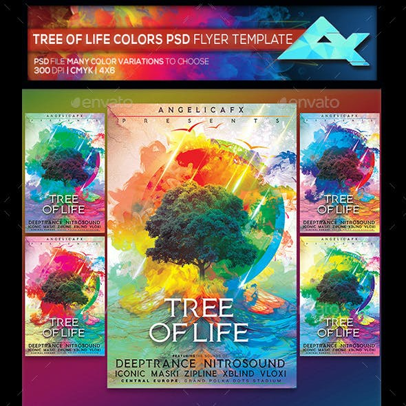 Tree of Life Photoshop Flyer Template